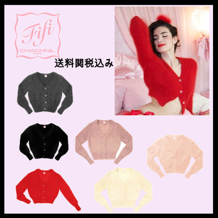 Fifi Chachnil Cropped Short Cropped Long Sleeves Plain Angola Elegant Style