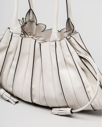 Lupo Barcelona Bucket Bags Casual Style Tassel Plain Leather Purses Office Style 3