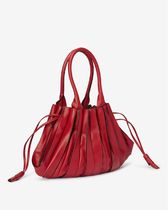 Lupo Barcelona Bucket Bags Casual Style Tassel Plain Leather Purses Office Style 8