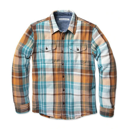 Other Plaid Patterns Long Sleeves Cotton Surf Style Shirts