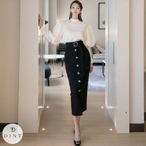 [DINT OFFICIAL] -SK9083 Jewelry Button Skirt