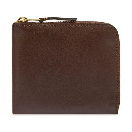 Plain Leather Long Wallet  Small Wallet Logo Coin Cases