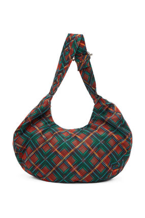 Other Plaid Patterns Casual Style Shoulder Bags