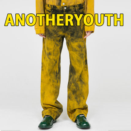 ANOTHERYOUTH More Jeans Printed Pants Unisex Street Style Cotton Jeans