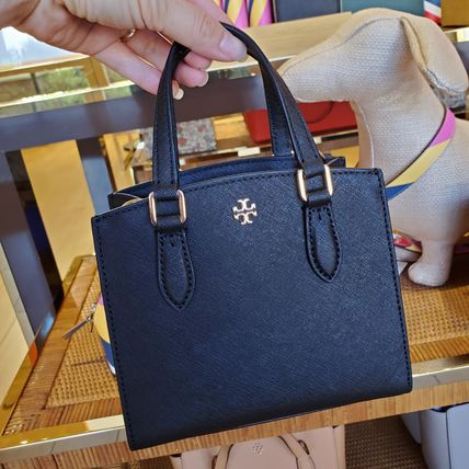 Tory Burch Casual Style Saffiano 2WAY Plain Office Style Elegant Style