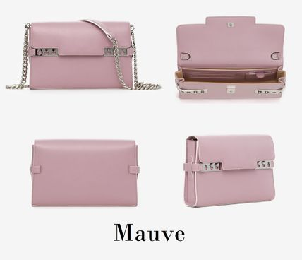 DELVAUX Casual Style Calfskin 2WAY Leather Party Style Crossbody