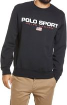 POLO RALPH LAUREN Crew Neck Pullovers Long Sleeves Cotton Logo Surf Style