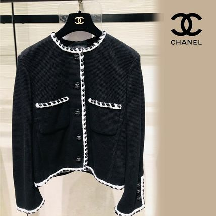 CHANEL Short Casual Style Plain Handmade Party Style Office Style