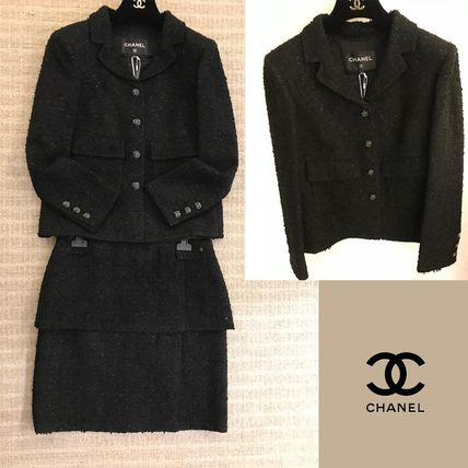CHANEL Short Casual Style Party Style Office Style Elegant Style
