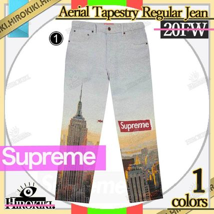 Supreme More Jeans Street Style Logo Jeans