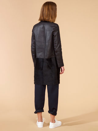 Casual Style Wool Blended Fabrics Street Style Plain Leather