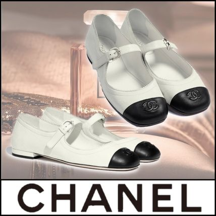 CHANEL Platform Plain Toe Lace-up Casual Style Street Style