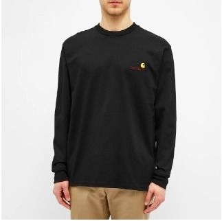 Carhartt Crew Neck Pullovers Street Style Long Sleeves Plain Cotton
