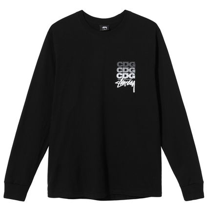 COMME des GARCONS Long Sleeve Unisex Street Style Long Sleeves Cotton Long Sleeve T-shirt 2