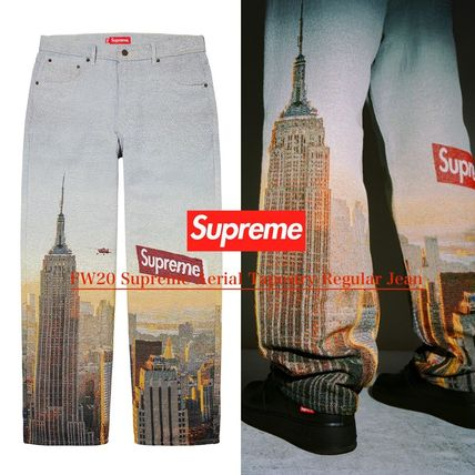 Supreme More Jeans Unisex Denim Street Style Jeans
