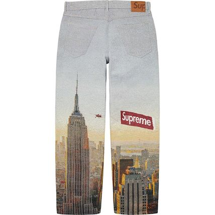 Supreme More Jeans Unisex Denim Street Style Jeans 3
