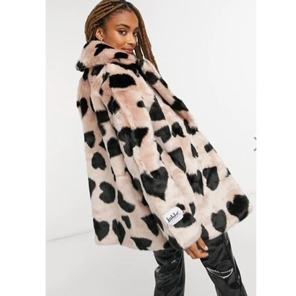 Heart Casual Style Faux Fur Street Style Medium Eco Fur