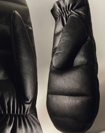 COS Plain Leather Leather & Faux Leather Gloves