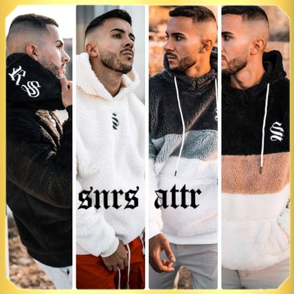 SINNERS ATTIRE Hoodies Street Style Cotton Logo Hoodies