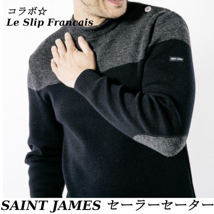 SAINT JAMES Sweaters Wool Blended Fabrics Collaboration Long Sleeves Sweaters