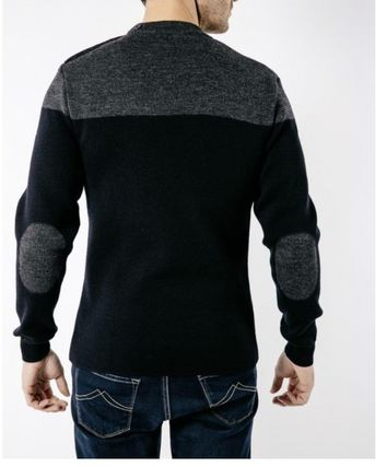 SAINT JAMES Sweaters Wool Blended Fabrics Collaboration Long Sleeves Sweaters 3