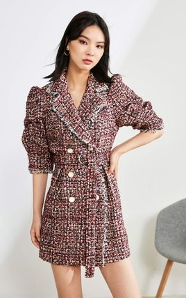Short Other Plaid Patterns Casual Style Blended Fabrics
