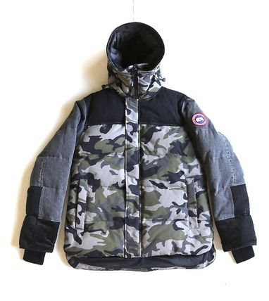 Camouflage Collaboration Logo Down Jackets