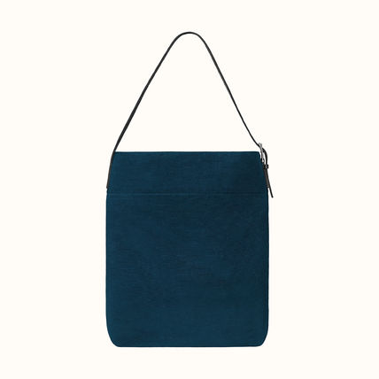 Canvas Unisex 2WAY Plain Messenger & Shoulder Bags