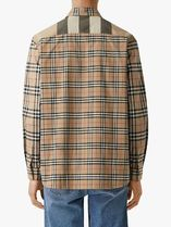 Burberry Shirts Other Plaid Patterns Unisex Street Style Long Sleeves Cotton 5