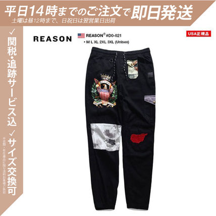 Tapered Pants Printed Pants Star Unisex Street Style