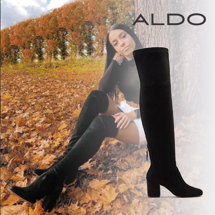 ALDO Square Toe Casual Style Suede Plain Party Style