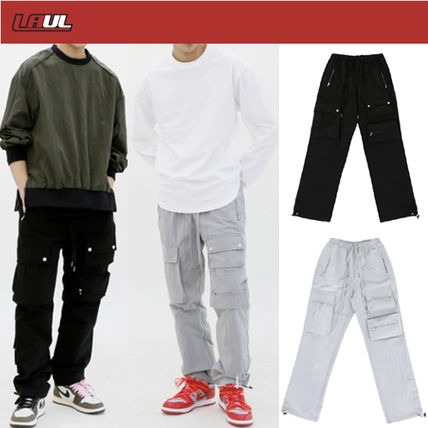 Slax Pants Street Style Oversized Logo Slacks Pants
