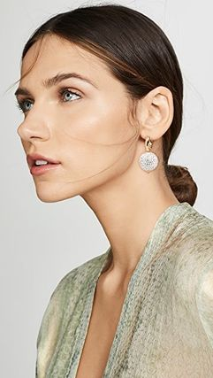 TIMELESS PEARLY Casual Style Party Style Elegant Style Earrings