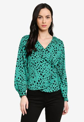Long Sleeves Other Animal Patterns Party Style Elegant Style