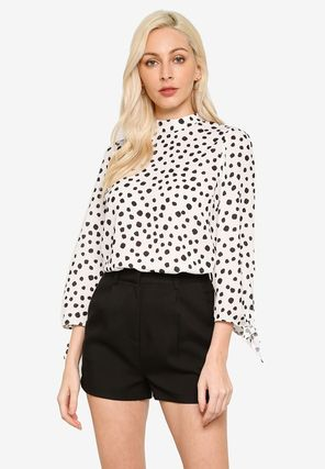 Dots Cropped Party Style Office Style Elegant Style