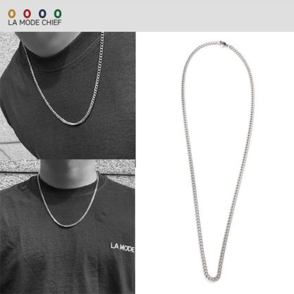 LAMODECHIEF Unisex Street Style Logo Necklaces & Chokers