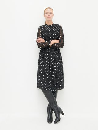 Dots Casual Style Dresses