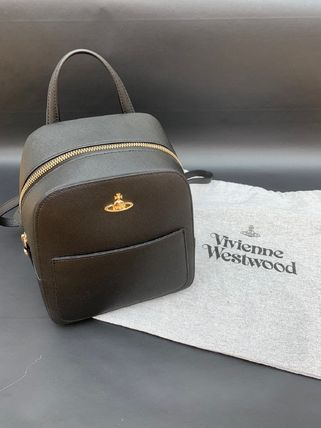 Vivienne Westwood Plain Leather Backpacks