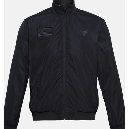 UNDER ARMOUR Nylon Street Style Collaboration Plain Coach Jackets Fringes