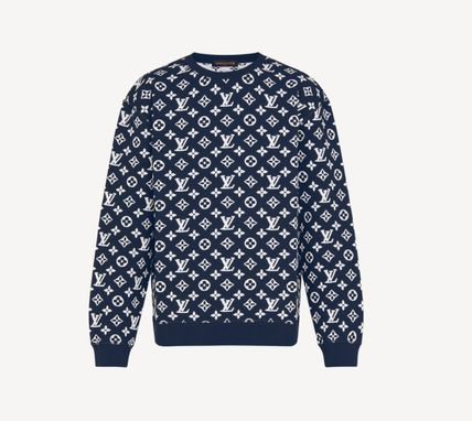 Louis Vuitton Monogram Long Sleeves Cotton Logo Luxury Sweatshirts