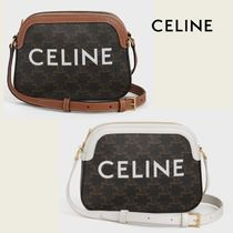 CELINE Triomphe Canvas Small Camera Bag In Triomphe Canvas With Celine Print