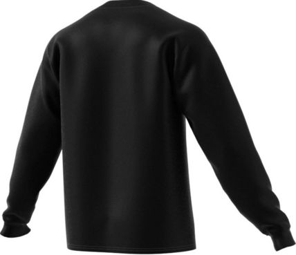 adidas Long Sleeve Crew Neck Pullovers Unisex Street Style Long Sleeves Cotton 3