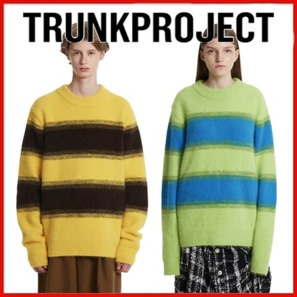 TRUNK PROJECT Sweaters Unisex Blended Fabrics Street Style Plain Oversized Sweaters