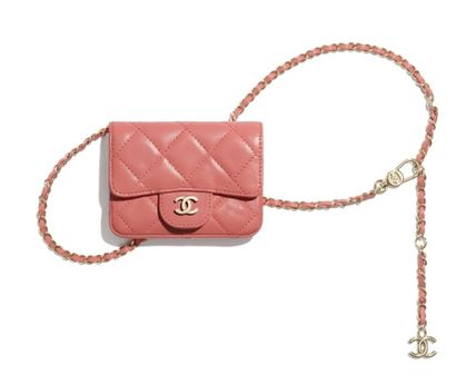 CHANEL MATELASSE Other Plaid Patterns Lambskin Street Style Chain Plain