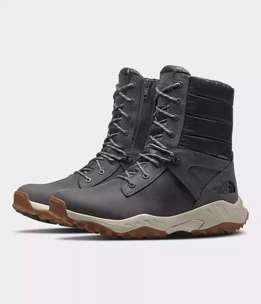 THE NORTH FACE Mountain Boots Unisex Studded Street Style Leather Logo