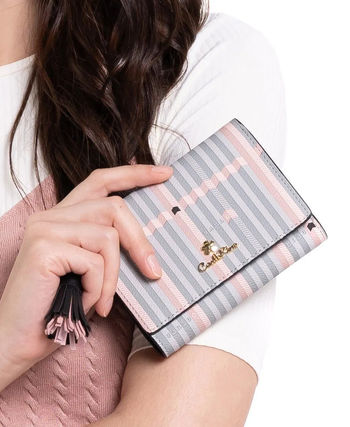 Stripes Tassel Folding Wallet Small Wallet Logo