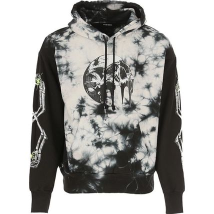 DIESEL Pullovers Skull Unisex Street Style Long Sleeves Cotton