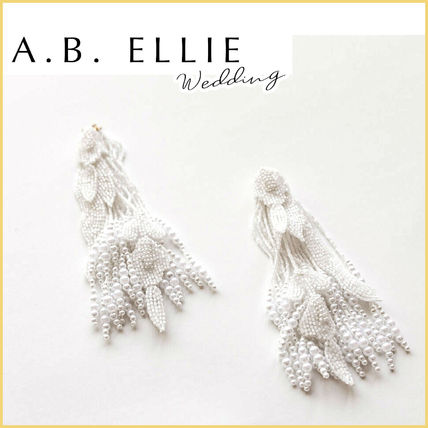a.b.Ellie Tassel Handmade Bridal Metallic Wedding Accessories