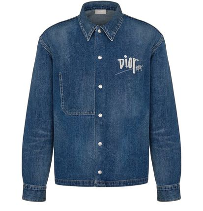 DIOR HOMME Shirts Button-down Street Style Long Sleeves Cotton Oversized Logo 2