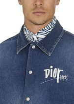 DIOR HOMME Shirts Button-down Street Style Long Sleeves Cotton Oversized Logo 6